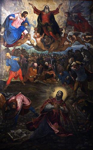 San Esteban es apedreado