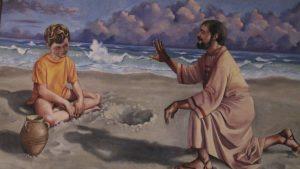 San Agustín y el niño en la paya