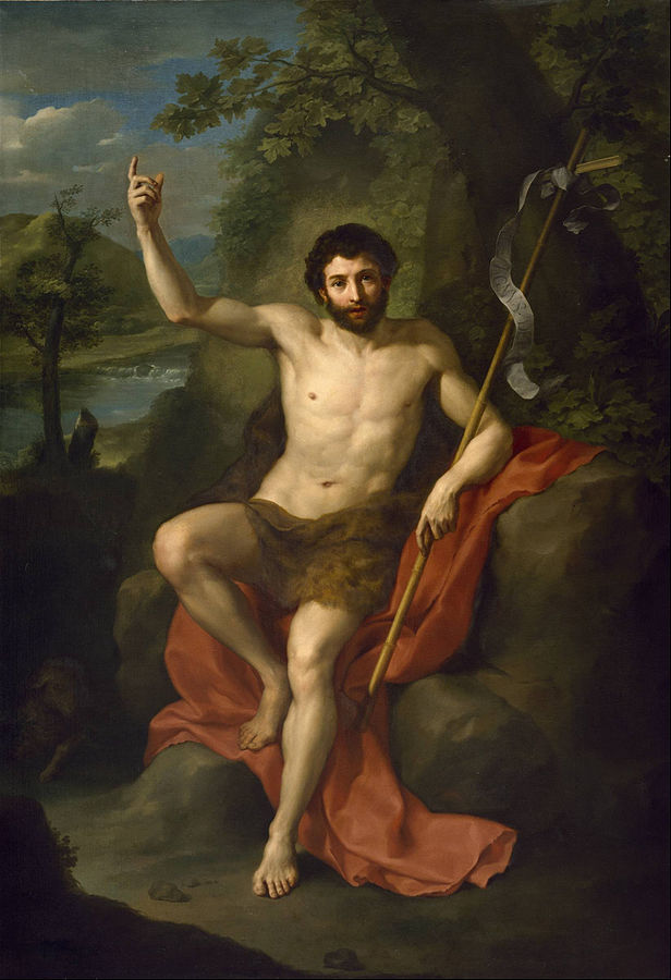 Juan el Bautista por Anton Raphael Mengs - ngHjvgNHHmV4zA at Google Cultural Institute maximum zoom level, Public Domain, Link