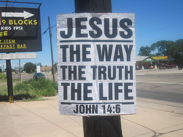 Letrero religioso