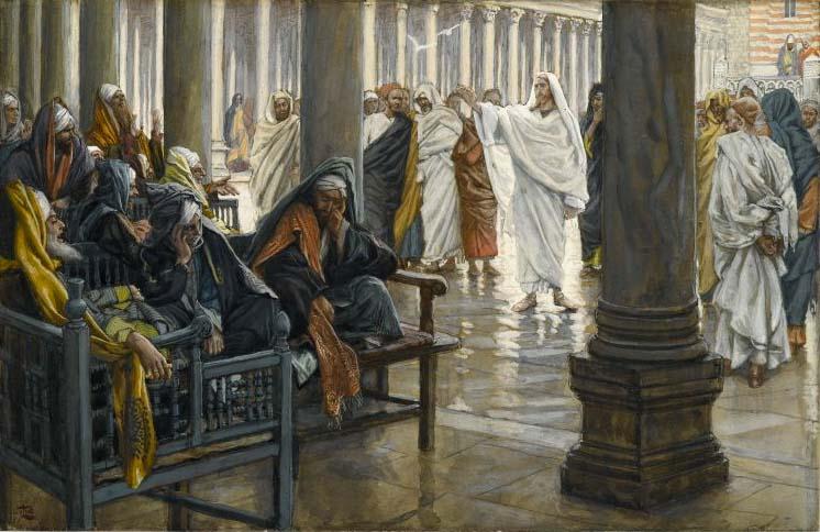 fariseos siendo regañados por Jesús