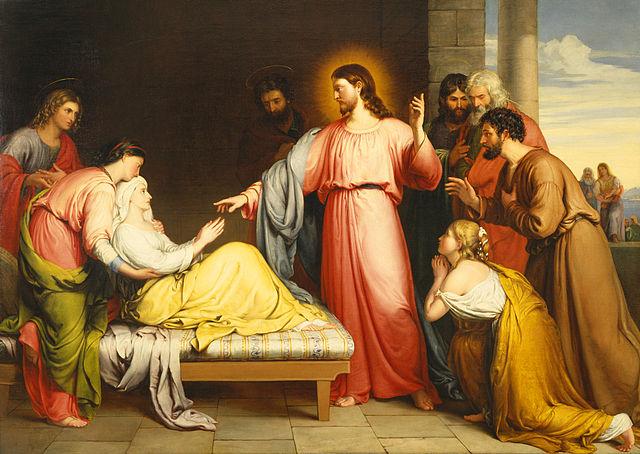 Jesús sanando a la suegra de Simón