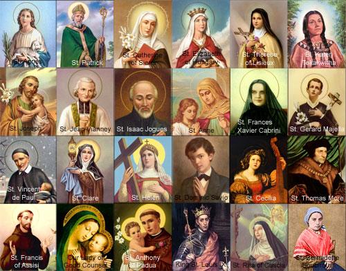 imagen con muchos santos