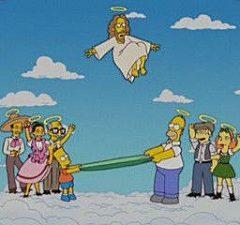 ¡Homer y Bart Simpson son católicos!