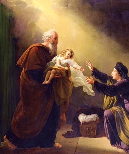Elías resucitando al hijo de la viuda