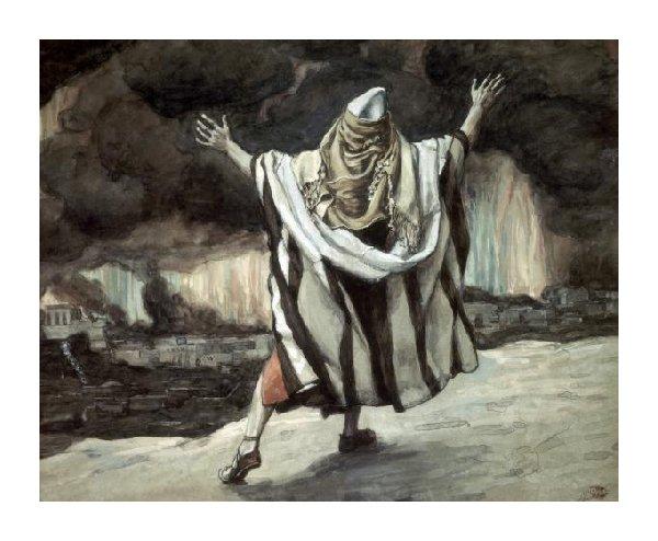 Abraham observa la destrucción de Sodoma