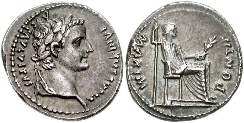 Foto de un denario, la moneda de la que habla la lectura de hoy