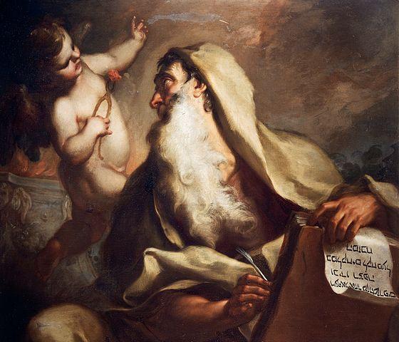 Un serafín le quema la boca al profeta Isaías