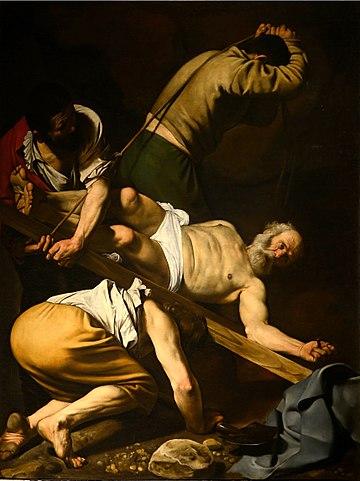 La crucifixión de San Pedro