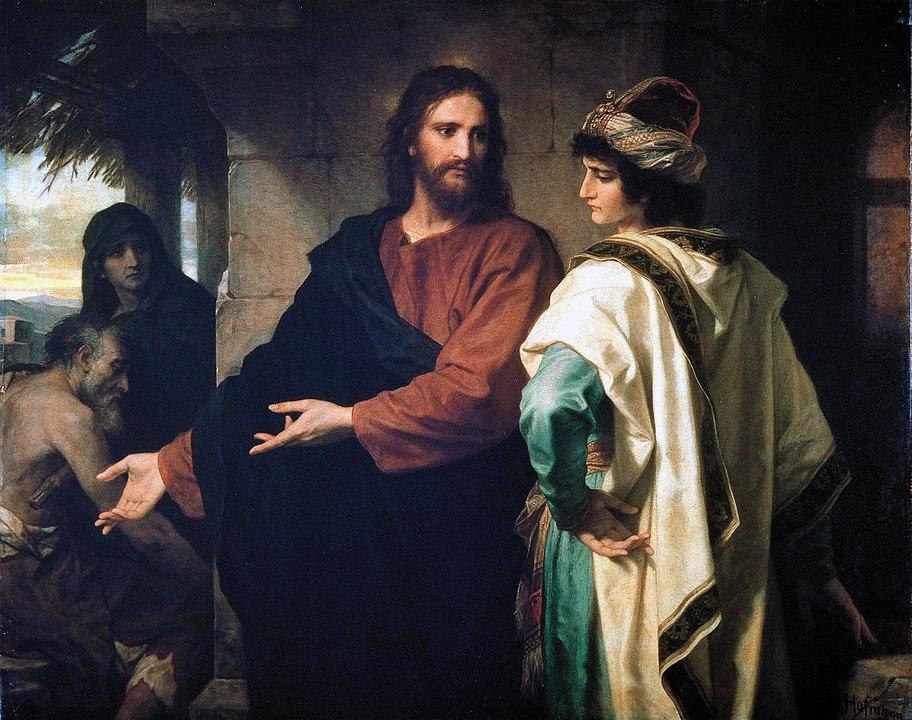 Jesús habla con el jóven rico