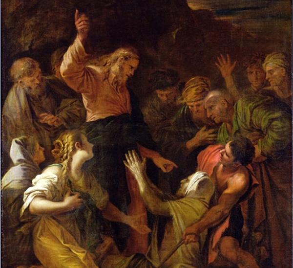 Jesús limpia al leproso