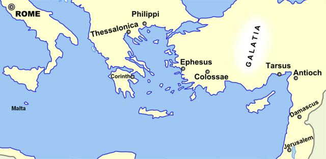 Geografía relacionada con la vida de Pablo