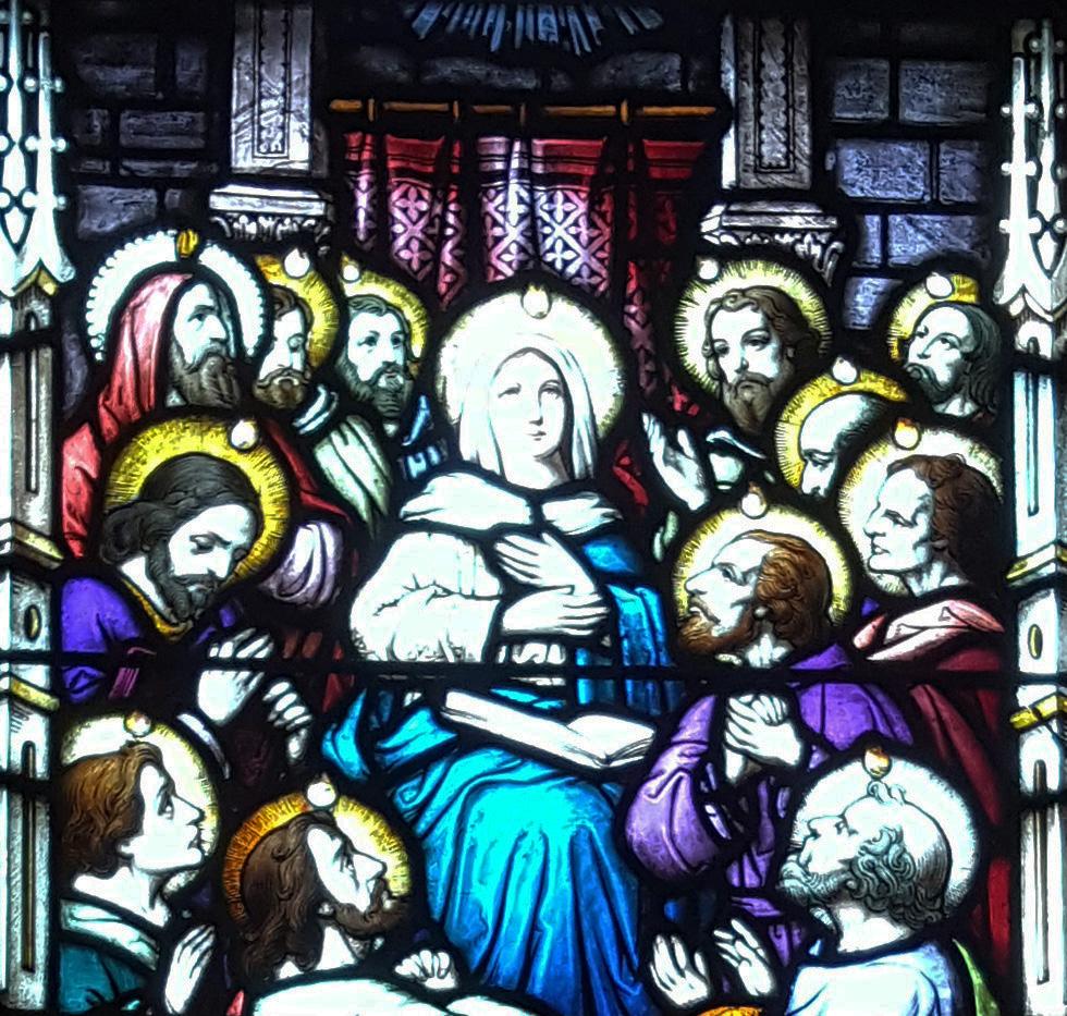 Vitral del Pentecostés
