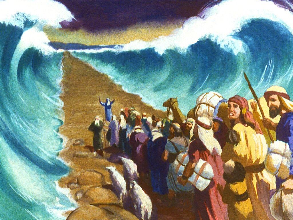 exodo atravesando el mar rojo