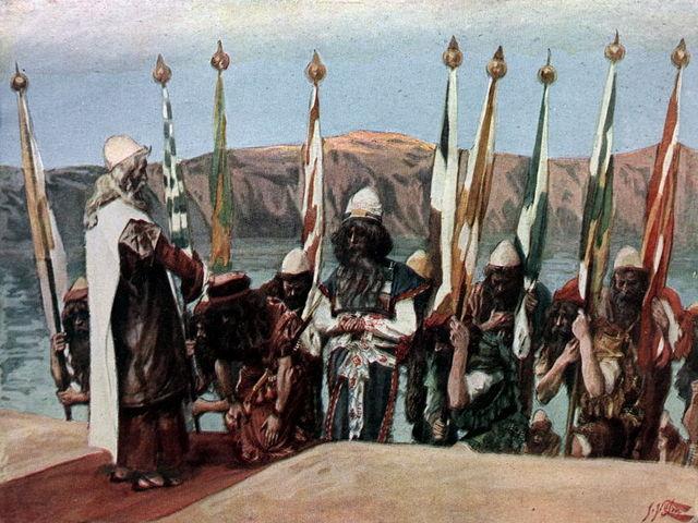 Moisés bendiciendo a Josué